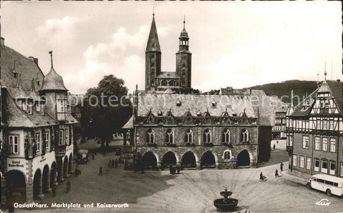 Goslar Marktplatz mit Kaiserworth Kat. Goslar