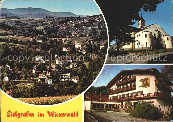 Eichgraben Totalansicht Kirche Wienerwald Kat. Eichgraben