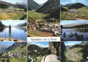 Nauders Tirol Panorama Ortsansichten Strassenpartie See Kat. Nauders