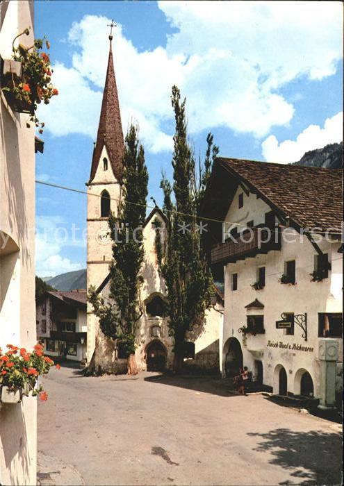 Pfunds Dorfstrasse Kirche Kat. Pfunds