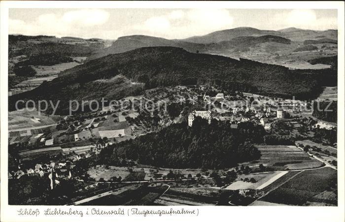 Fischbachtal Odenwald Schloss Lichtenberg Fliegeraufnahme Kat. Fischbachtal