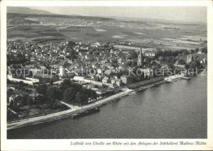 Eltville Rhein Anlagen Sektkellerei Matheus Mueller Fliegeraufnahme Kat. Eltville am Rhein