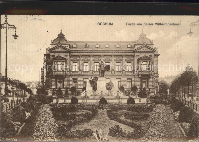Bochum Partie am Kaiser Wilhelmdenkmal Kat. Bochum