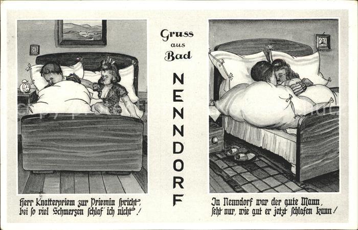 Nenndorf Bad Komik Zeichnung Kat. Bad Nenndorf