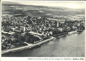 Eltville Rhein Fliegeraufnahme Sektkellerei Matheus Mueller Kat. Eltville am Rhein
