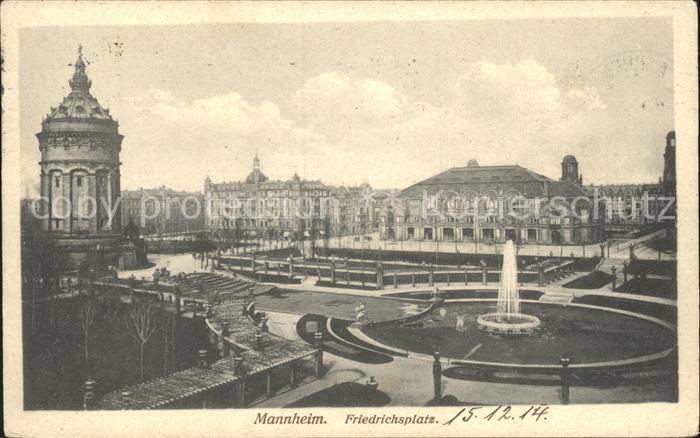 Mannheim Friedrichsplatz Kat. Mannheim