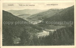 Laasphe Bad Partie aus dem Laasphetal Schloss Wittgenstein Kat. Bad Laasphe