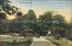 Bad Oeynhausen Partie im Kurgarten Bahnpost Kat. Bad Oeynhausen
