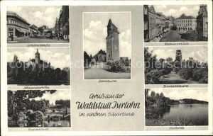 Iserlohn Grabenstrasse Alexanderhoehe Rupenteich Rathausplatz Bismarckturm Seilersee Danzturm Kat. Iserlohn