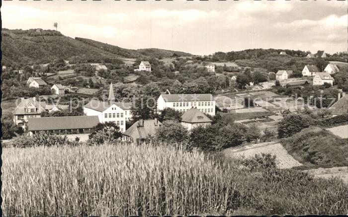 Hausberge Blick vom Glockenbrink zum Fernsehturm Kat. Porta Westfalica