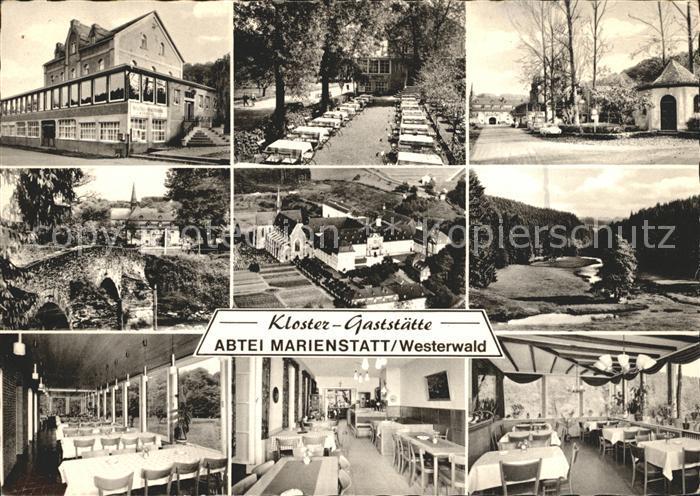 Hachenburg Westerwald Kloster Gasstaette Abtei Marienstatt Kat. Hachenburg