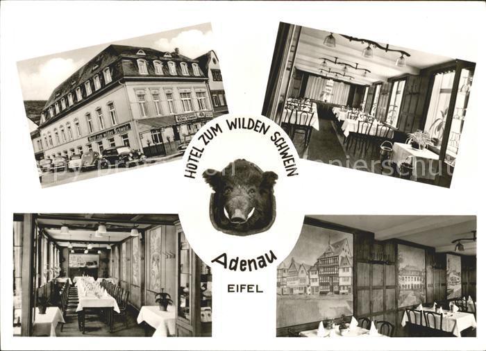Adenau Hotel zum wilden Schwein Kat. Adenau