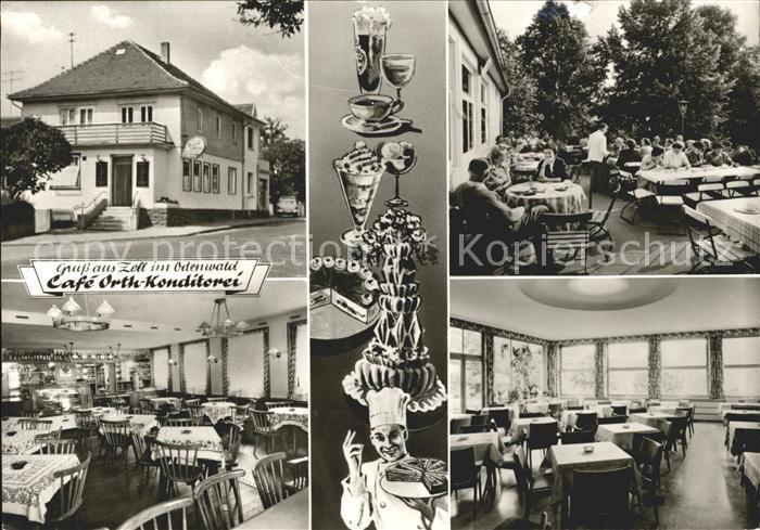 Zell Odenwald Cafe Orth  Konditorei Kat. Bad Koenig