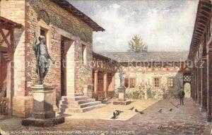 Saalburg Taunus Peristyl mit Kaiser Hadrian und Severus Alexander Kat. Wehrheim