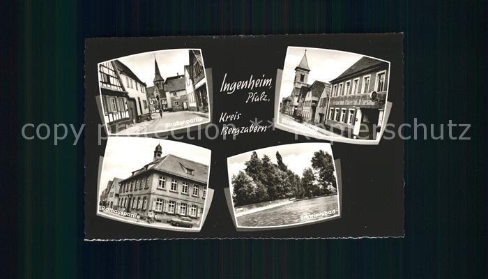 Ingenheim Suedliche Weinstrasse Strassenpartien Rathaus Schwimmbad Kat. Billigheim Ingenheim