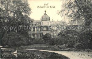 Lich Hessen Parkpartie mit Schloss Kat. Lich