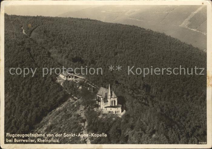 Burrweiler Fliegeraufnahme St Anna Kapelle Kat. Burrweiler