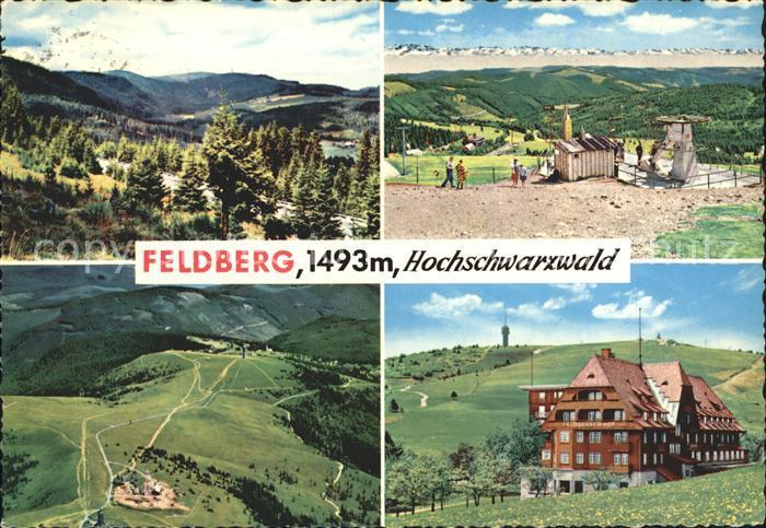 Feldberg Schwarzwald Panorama Fliegeraufnahme Skilift Hotel Feldberger Hof Kat. Feldberg (Schwarzwald)