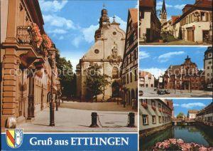 Ettlingen Martinskirche Rathaus Alb Kat. Ettlingen