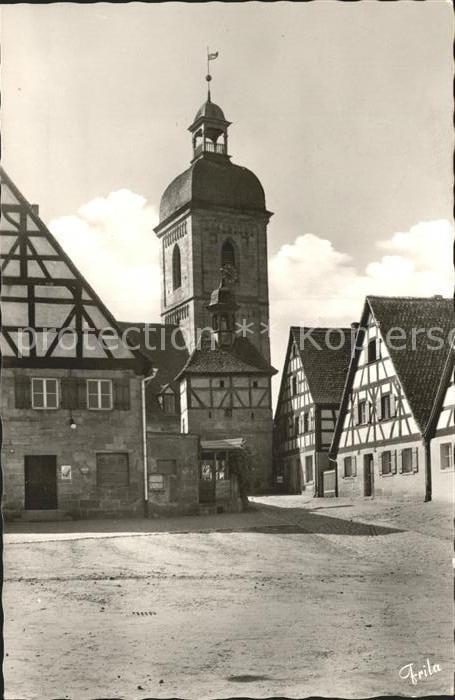 Rosstal Marktplatz Kirche Kat. Rosstal