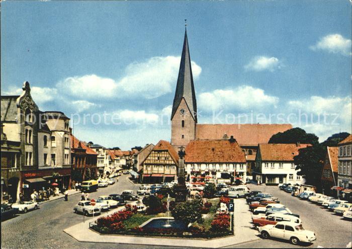 Eutin Markt mit Kirche Kat. Eutin