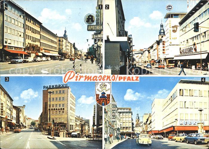 Pirmasens Schlossstrasse Hauptstrasse Kat. Pirmasens