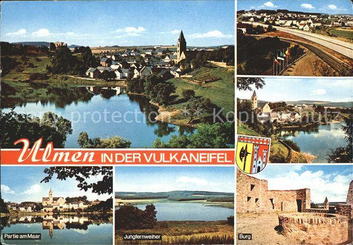 Ulmen am Maar Burg Junfernweiher Kat. Ulmen
