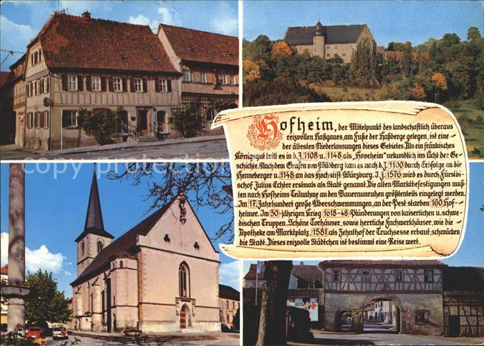 Hofheim Unterfranken  Kat. Hofheim i.UFr.