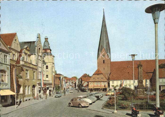 Eutin alter Markt mit Michaeliskirche Kat. Eutin