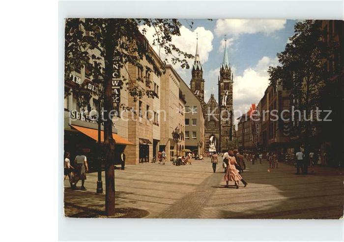 Nuernberg Karolinenstrasse Lorenzkirche Kat. Nuernberg