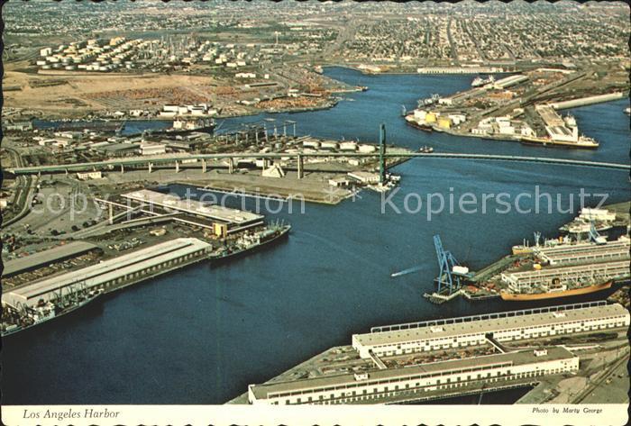 San Pedro California Los Angeles Harbor Kat. San Pedro