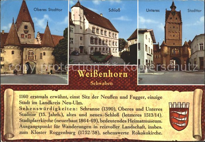 Weissenhof Loechgau Oberes Stadttor Schloss Unteres Stadttor Kat. Loechgau