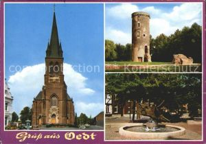 Oedt Kirche Turm Kat. Grefrath