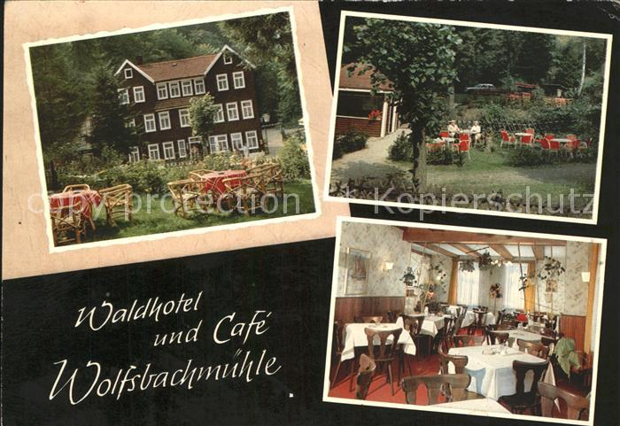 Hohegeiss Harz Waldhotel Cafe Wolfsbachmuehle Kat. Braunlage
