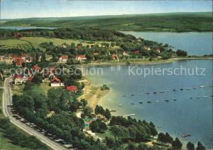 Delecke Fliegeraufnahme Camping Strand Kat. Moehnesee