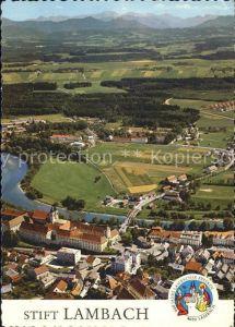 Lambach Oberoesterreich Fliegeraufnahme Stift Kat. Lambach