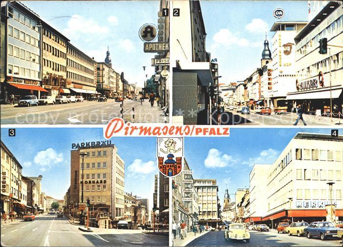 Pirmasens Schlossstrasse und Hauptstrasse Kat. Pirmasens