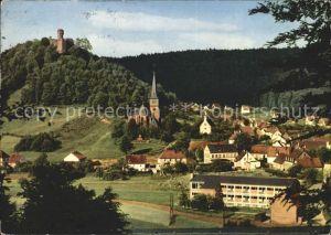 Hohenecken Ortsansicht Kirche Schloss Kat. Kaiserslautern