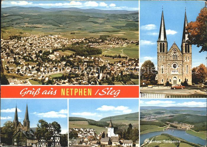 Netphen Obernau Talsperre Kirche  Kat. Netphen