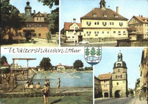 Waltershausen Gotha Schloss Tenneberg Rathaus Markt Nikolaustor Kat. Waltershausen