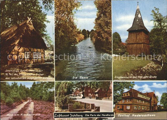 Jesteburg Seeve Glockenturm Gasthof Niedersachsen Zehntscheune Kat. Jesteburg