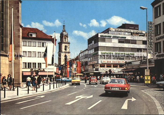 Heilbronn Neckar am Hafenmarktturm Kat. Heilbronn