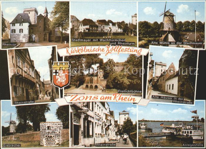 Zons Zollfestung Windmuehle Rheinstrasse  Kat. Dormagen