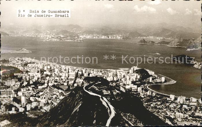 Rio de Janeiro Baia de Guanabara Fliegeraufnahme Kat. Rio de Janeiro