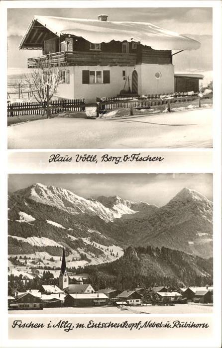 Fischen Allgaeu Haus Voeltl in Berg Entschenkopf Nebelhorn Ruebihorn Allgaeuer Alpen Kat. Fischen i.Allgaeu