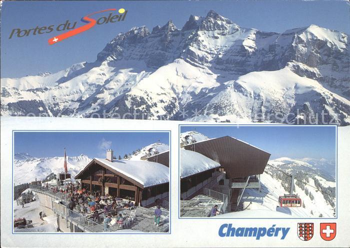 Champery Portes du Soleil Wintersportplatz Alpen Kat. Champery
