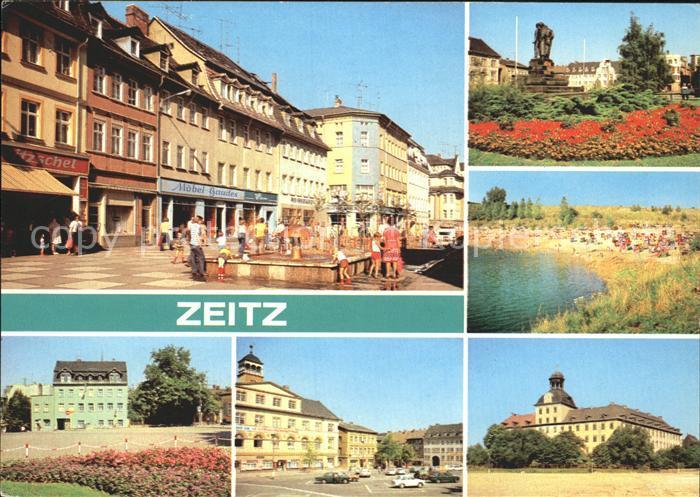 Zeitz Leninstrasse Platz der Jungen Pioniere Friedensplatz Kat. Zeitz