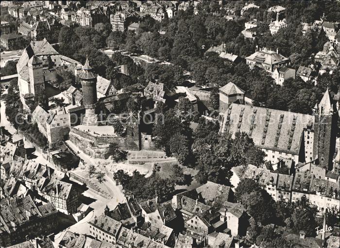 Nuernberg Fliegeraufnahme mit Burg Kat. Nuernberg