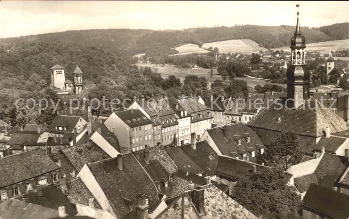 Waldenburg Sachsen Blick auf die Stadt Kat. Waldenburg Sachsen
