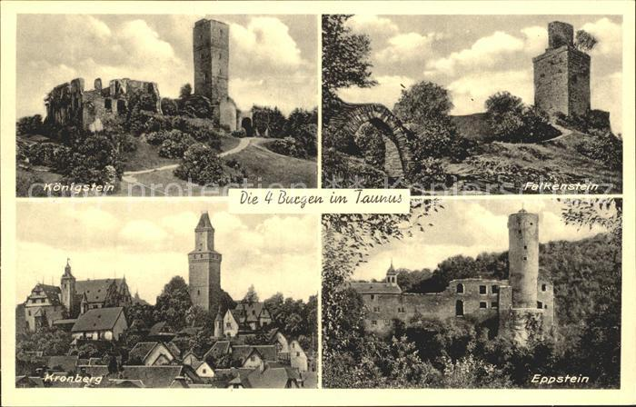 Kronberg Taunus Die 4 Burgen im Taunus Kat. Kronberg im Taunus